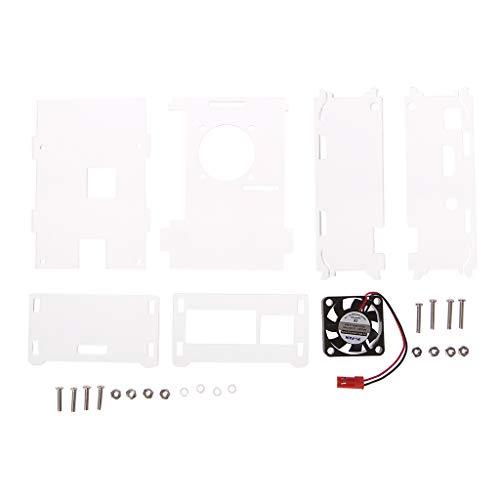 Keahup Acryl Hoes, Koelventilator, Schroeven En Noten, Voor Raspberry Pi 3 + Acryl Transparant Hoesje + Cpu Koelventilator Met Schroeven Transparant