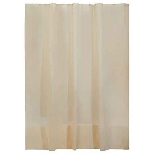 InterDesign EVA Liner Futter für Duschvorhang, 183,0 cm x 183,0 cm großer Vorhang aus schimmelresistentem EVA mit zwölf Ösen, sandfarben