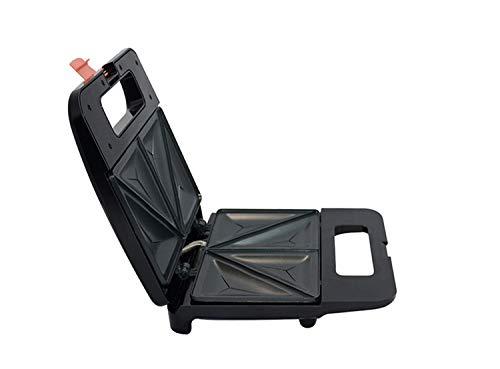 L&B-MR Sandwichera 4 En 1 Sandwichera Tostadora Panini Máquina Antiadherente Triángulo De Fácil Limpieza Y Placa Desmontable Placa De Revestimiento Antiadherente