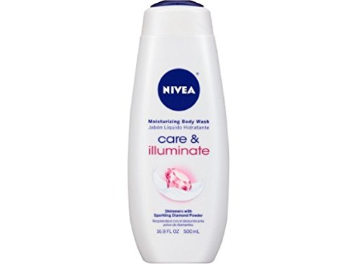 NIVEA Care & Illuminate Moisturizing Body Wash, Shimmers With Sparkling Diamond Powder 16.9 oz ( Pack of 2 )