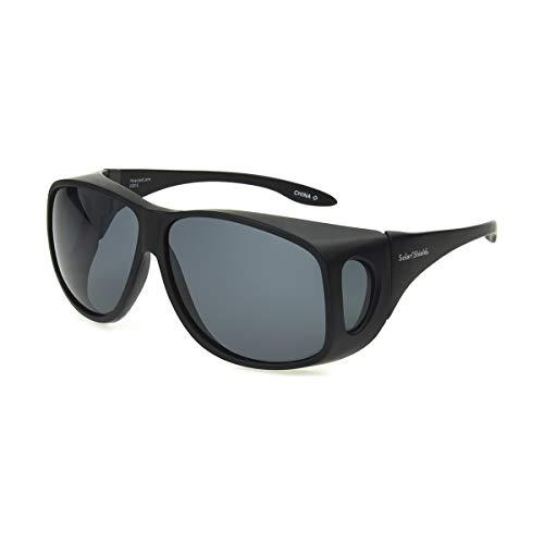 Dioptics unisex adult Solar Shield-classic Fits Over Sunglasses, Grey, 66 mm US