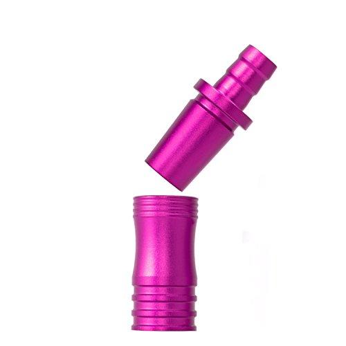 DILAW® Shisha Aluminium Schlauchadapter 18/8 Schliff Set 2-teilig Universal Hookah Wasserpfeife Alu Manyak,Opal,Vatos Menge: 1er Pack, Farbe: Pink