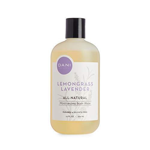 Moisturizing Body Wash by DANI Naturals - Calming Lemongrass Lavender Aromatherapy- Organic Aloe Vera & Natural Glycerin - Paraben & Sulfate Free Shower Gel - 12 Ounce Bottle