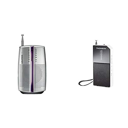 Grundig Radio portátil City 31 / PR 3201 Chrome + Thomson Radio Transistor RT205