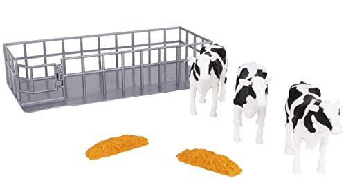 TOYLAND Juego de alimentación para Vacas 3 Vacas con Corral de alimentación - Juguetes agrícolas