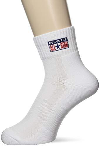 [コンバース] バスケ 靴下 カラーアンクルソックス CB191004 ホワイト 日本 1921 (FREE サイズ)