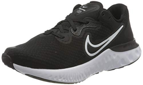 Nike Renew Run 2, Running Shoe Hombre, Black/White-Dark Smoke Grey, 40 EU