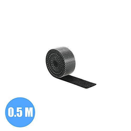 selbstklebender Schreibtisch-Kabelhalter f/ür verschiedene Kabel DANMEI Universal Cable Manager schwarz 7, 5 und 3 Steckpl/ätze