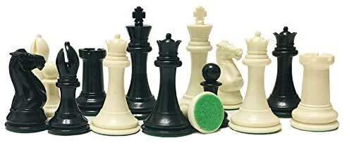 XYIDAI Internacional de Ajedrez, Juego de ajedrez Rey Altura 108mm Staunton Norma Internacional de ajedrez ponderado del Juego de ajedrez for el Partido de Club de Ajedrez Tablero Blanco