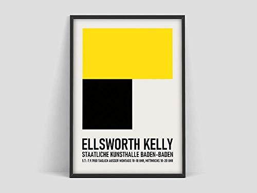 Póster de exposición Ellsworth Kelly,impresión de Ellsworth Baden Baden,Los Ángeles,California,póster de exposición de arte,decoración sin marco de la familia Ellsworth Kelly A34 60x80cm