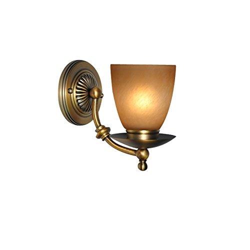ZWL Retro Antique Copper Wall Lamp Lustre de chambre à coucher Lampadaire de salle de séjour de restaurant, Creative E27 Single Head 12.5 * 20CM Balcon Lampe murale Corridor Aisle Lights Décoration intérieure Lampes et lanternes Eclairage d'escalier mode ( taille : 12.5*20CM )