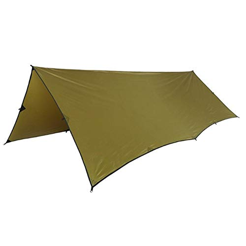 SSGLOVELIN Polyester Sun Shelter 3x4m Compact Versatile Durable Backpacking Tarpaulin Beach Tent Awning 100% Waterproof (Color : Coyote Brown)