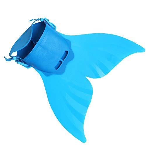 HaPa Monoflosse Schwimmflossen Kinder Meerjungfrau Flossen Monofin Taucherflossen für Kinderschwimmen Erwachsene Tauchen Schwimmfuß Flipper (B Blue)