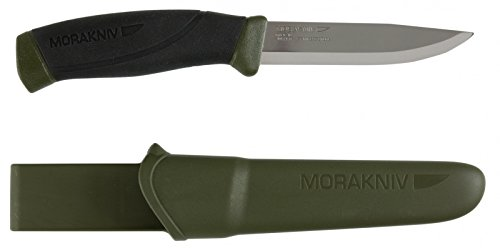 Morakniv Companion Fixed Blade Outdoor Knife with Sandvik Stainless Steel Blade, 4.1-Inch, Military...