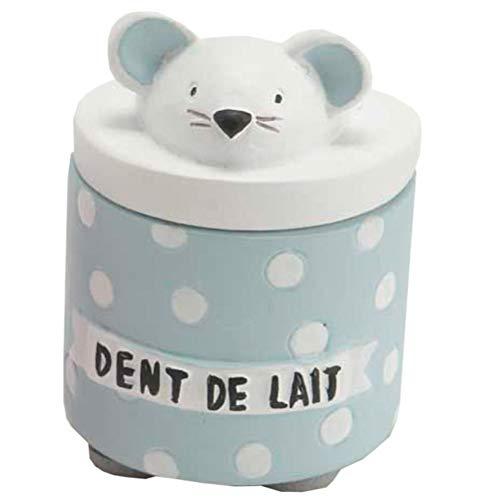 LE MONDE DES ANIMAUX Petite Boite à Dents de Lait Bleue