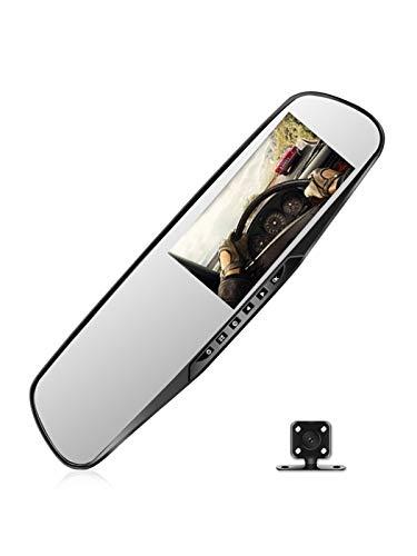 HD Nachtsicht Autokamera, 4.3-zoll-display, Sorgloses Umkehren Der Vorderen Und Hinteren Doppelscheibe, 24-stunden-parküberwachung, Schleifenaufzeichnung, Bewegungserkennung