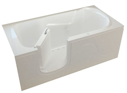 Meditub MTSI3060LWA Step In 30 by 60 by 22-Inch Air Jetted Bathtub Spa...