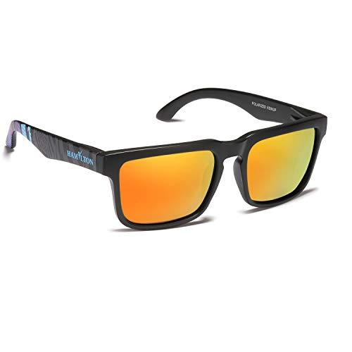 Hamylton Gafas de sol polarizadas para hombre y mujer UV400 Protección, ideales para running, Montaña, bicicleta, moto, conducción, Golf Pesca, Beachvolley, vela