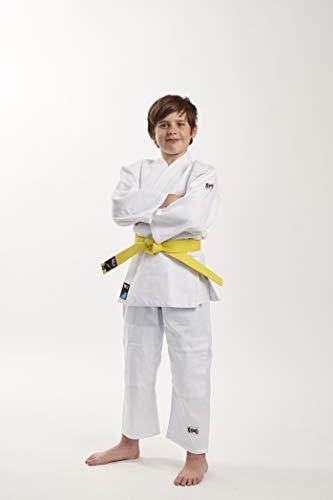 Ippon Gear–Traje de Judo Infantil Future, Todo el año, Infantil, Color Blanco - Blanco, tamaño 130