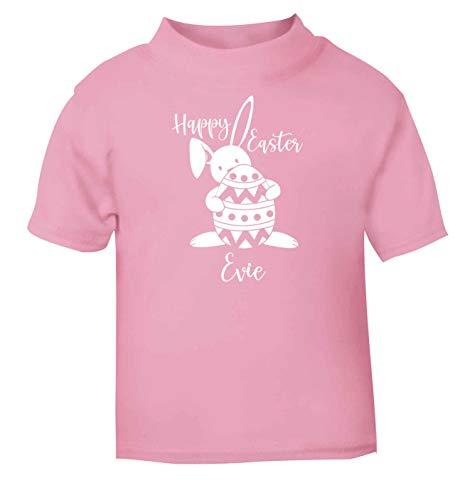 Flox T-Shirt créatif pour bébé Happy Easter personnalisé - Rose - 2 Mois