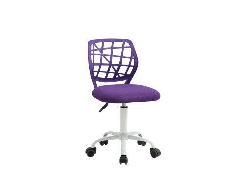 Sedia per scrivania ideale per bambini e ragazzi (lilla)