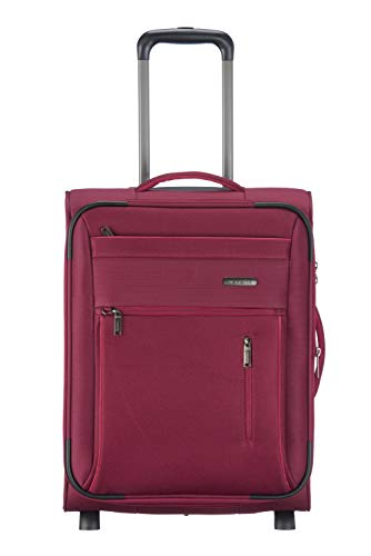"""Travelite Gepäckserie """"CAPRI"""" in 3 Farben: Praktische, elegante 2- und 4-Rad-Trolleys, Reise- und Bordtaschen Koffer, 53 cm, 41 Liter, Rot"""