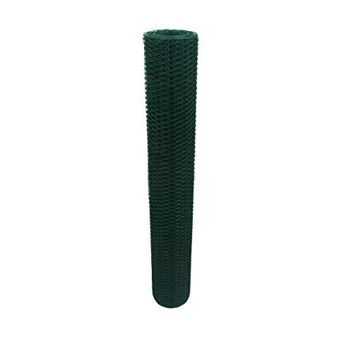 Garmix Sechseckgeflecht Grün 13mm Kaninchendraht Hasendraht 1mm (100cm, 25m)