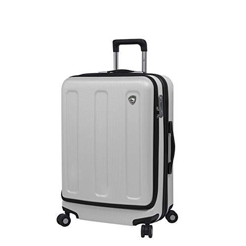 Mia Toro Profondito 24'' Spinner Luggage, White, One Size