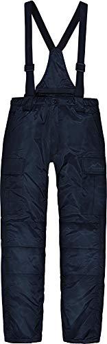 normani Herren Winter Thermohose gefüttert mit abnehmbaren Hosenträgern Farbe Navy Größe XL