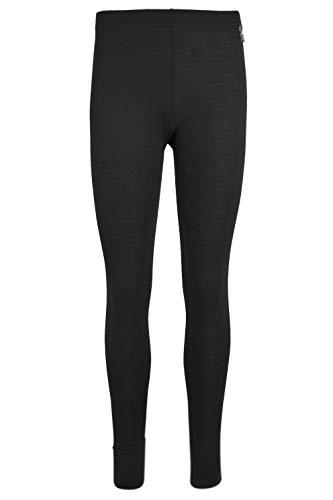 Mountain Warehouse Merino Thermohose, Funktionshose für Damen - Leichte Hose, atmungsaktiv, antibakteriell, feuchtigkeitsregulierend, pflegeleicht - Ideal für Winter Schwarz 34 DE (36 EU)
