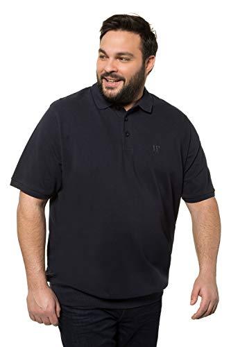 JP 1880 Herren große Größen Übergrößen Menswear L-8XL bis 8XL, T-Shirt, Poloshir, JP1880-Brustdruck, Bauchshirt, Piqué, Navy 5XL 712617 70-5XL