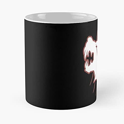 Resident Evil Hound Wolf Squad - Taza de café de cerámica de mármol blanco