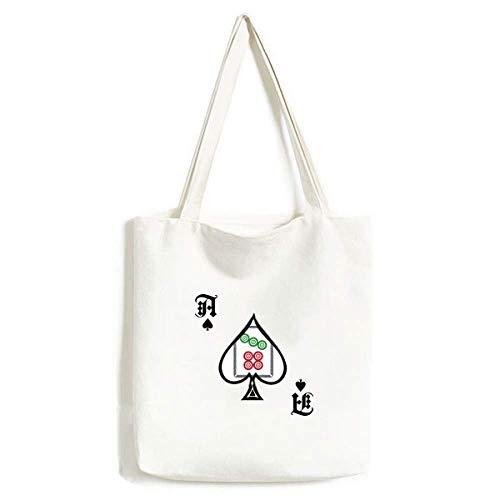 Mahjong - Bolsa de Mano con diseño de Lunares y 7 baldosas