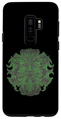 Galaxy S9+ Celtic Greenman Traditional Pagan Wicca Nature Spirit Case