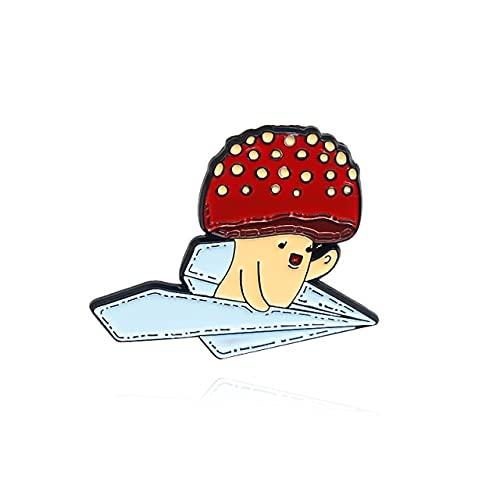 Lindo gato cráneo hongo esmalte Pin gato rana conejo abeja esqueleto flor planta animal broches solapa joyería para niños