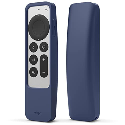 elago R5 Locator hülle Kompatibel mit Apple TV 4K Siri Remote 2. Generation (2021) & Kompatibel mit Apple AirTag - Inklusive Lanyard, Fallschutz, voller Zugriff auf alle Funktionen (Jean Indigo)
