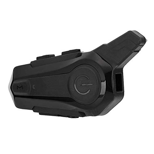 fasient1 Casco de Motocicleta Auricular Bluetooth Impermeable Walkie Talkie inalámbrico Equipo de Ciclismo Casco de Motocicleta Sistemas de comunicación Bluetooth para Esquiar Moto Camping
