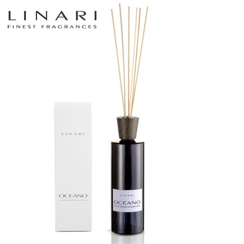 永遠の記念品柱LINARI リナーリ ルームディフューザー 500ml OCEANO オセアノ ナチュラルスティック natural stick room diffuser