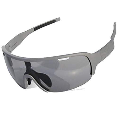 AELEGASN Gafas Ciclismo Polarizadas con 5 Lentes Intercambiables Gafas De Sol Deportivas Antivaho Antireflejo Anti Viento Y UV Adaptadas A Deporte Carrera Running Bicicleta MTB para Hombre Y Mujer, 1