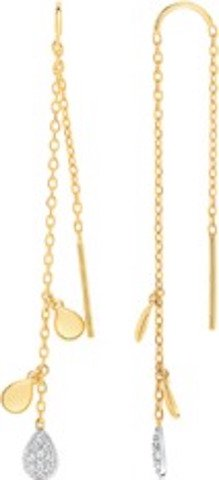 Belar–Orecchini pendenti–2Ors 375/00e ossido–www.diamants.perles.com