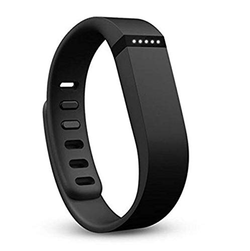 ZheJia Wristband Replacement Wrist Strap Solid Color Wrist Strap Metal Buckle Replacement Silicone Strap for Fitbit Flex Wristband Black