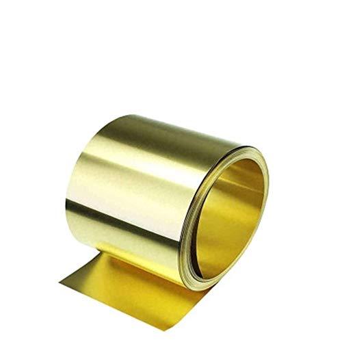 Lámina de latón dorado de lámina de latón H62 placa de latón 0,8 x 200 x 1000 mm