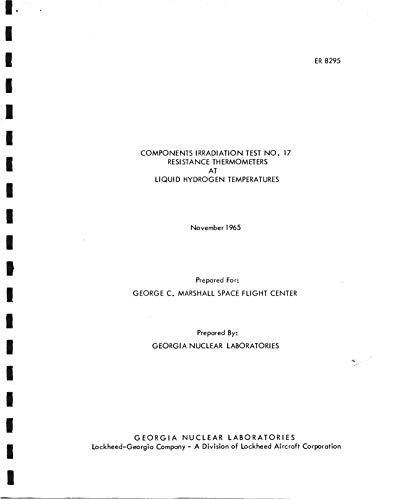 Components irradiation test no. 17 - Resistance thermometers at liquid hydrogen temperatures (English Edition)