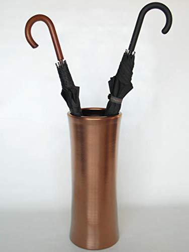 POLONIO - Paraguero de Ceramica Cobre de 50 cm - Bastonero de Ceramica para Entrada y Pasillo - Jarron de Ceramica Grande Color Cobre Mate.
