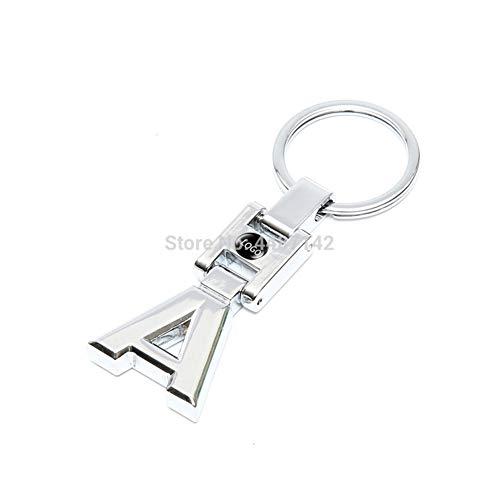 LBPLWY Voiture Porte-clés,1 Pièce 3D Métal Un Emblème Porte-Clés Porte-Clés De Voiture pour Mercedes Benz W168 W169 W176 A180 A200 A260 A250 A220 A45 A160 Amg Porte-Clés