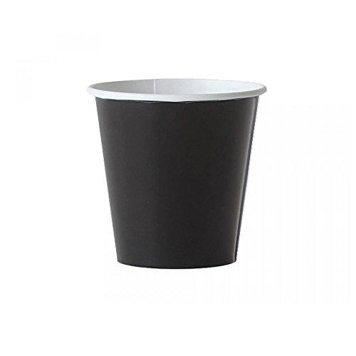 SDG Lot de 200 gobelets en carton noir 8 cl pour café en papier noir