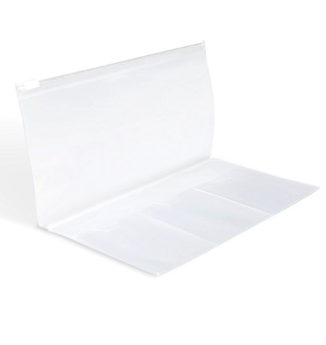 Zipper Pouch Pocket Case Refill Pack For Travellers Notebook 8.25x4.3 - Clear Zipper Pouch PVC Clear Insert For Standard Leather Journal Refillable Travellers Notebook TN - 3 Plastic Card Slots