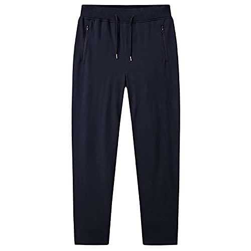Qb Herren ActiveWear Hose Sport Hosen Casual Hosen Joggers Hosen Zip Taschen (Color : Black, Size : M)