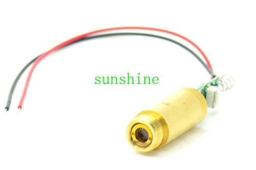 Industriale / Lab Laser 3.0V-3.7V 532nm 50mw Verde laser Diodo Dot Modulo con cavo