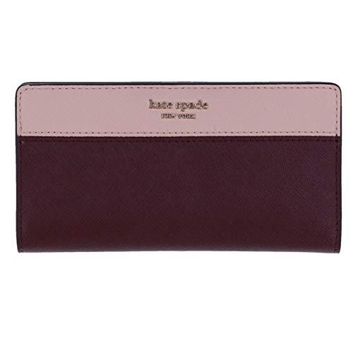 Kate Spade New York Cameron Large Slim Bifold Wallet (Cherrywood/Warm Vellum)